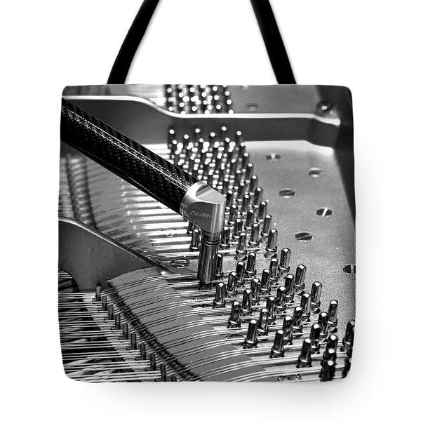 Piano Tuning Bw Tote Bag