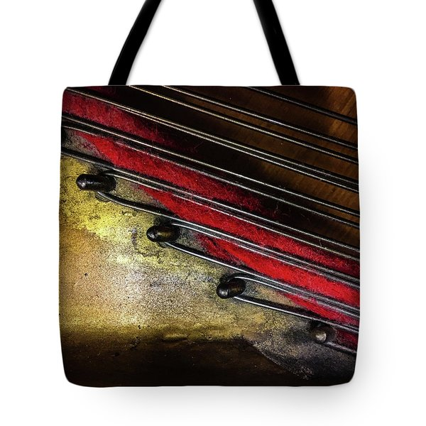 Piano Wire II Tote Bag by Jae Mishra