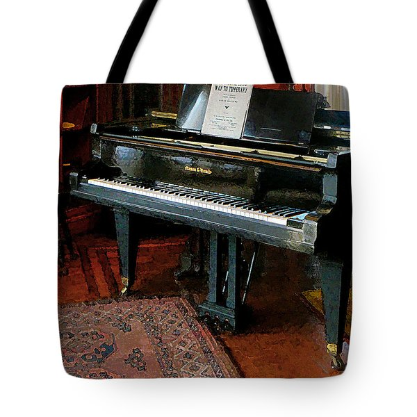 Piano With Sheet Music Tote Bag by Susan Savad