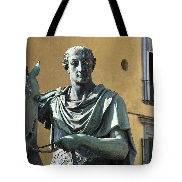 Piazza Del Plebiscito Tote Bag