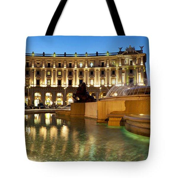 Piazza Della Repubblica Tote Bag by Fabrizio Troiani
