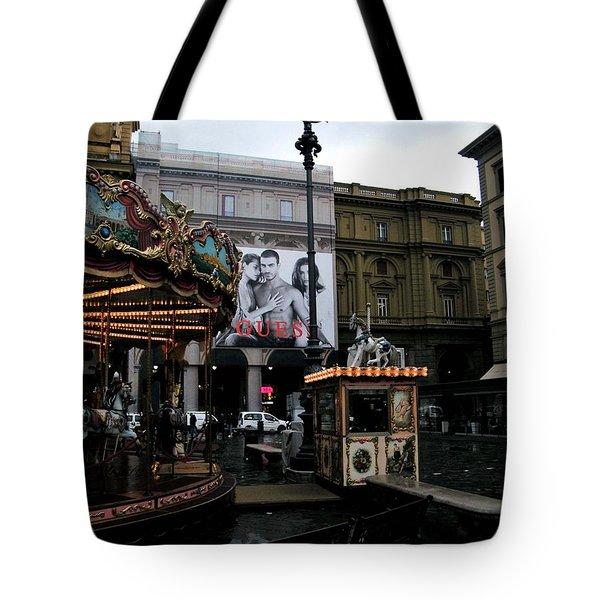 Piazza Della Republica Tote Bag by Melinda Dare Benfield