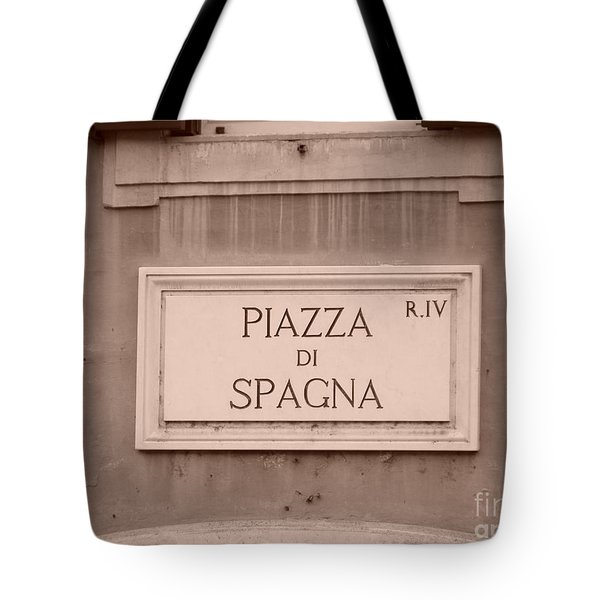 Piazza Di Spagna Tote Bag