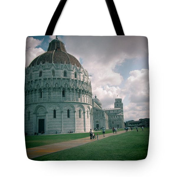 Piazza In Piza Tote Bag by Christin Brodie