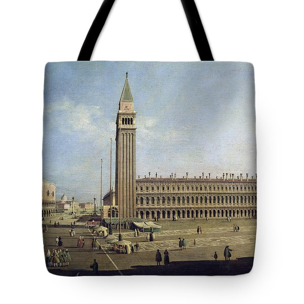 Piazza San Marco Venice  Tote Bag by Canaletto