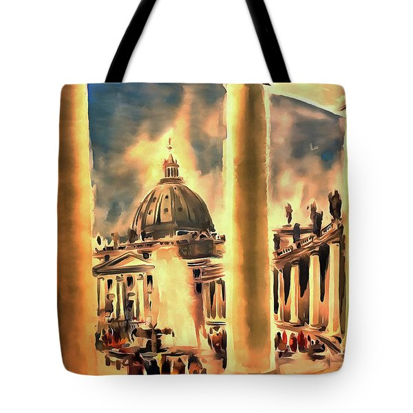 Piazza San Pietro In Roma Italy Tote Bag
