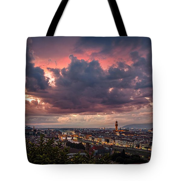 Piazzale Michelangelo Tote Bag by Giuseppe Torre