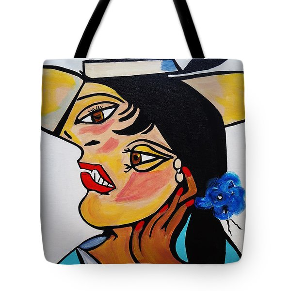 Yellow Hat Picasso Tote Bag