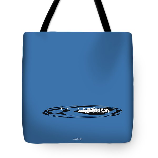 Tote Bag featuring the digital art Piccolo In Blue by Jazz DaBri