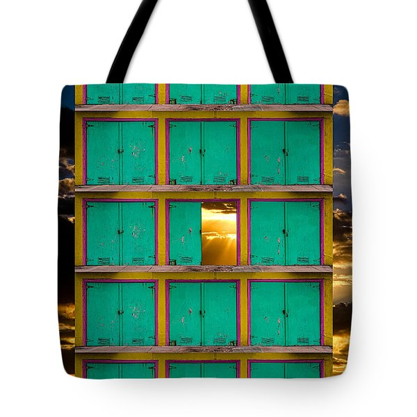 Tote Bag featuring the photograph Pick A Door by Harry Spitz