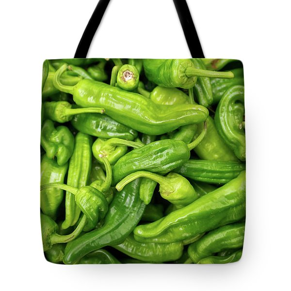 Picked A Peck Of Peppers Tote Bag by Sandy Molinaro