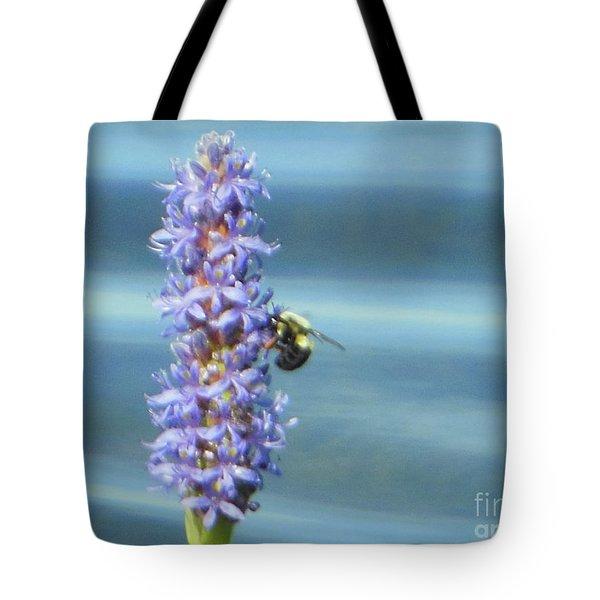Pickerelweed Bumble Bee Tote Bag