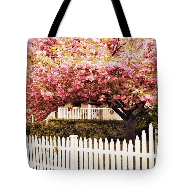 Picket Fence Charm Tote Bag