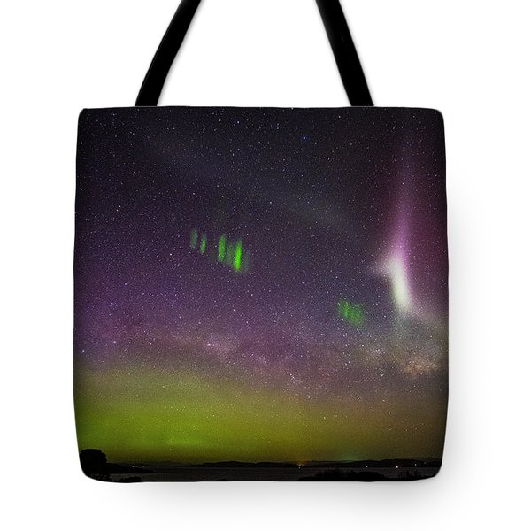 Picket Fences And Proton Arc, Aurora Australis Tote Bag