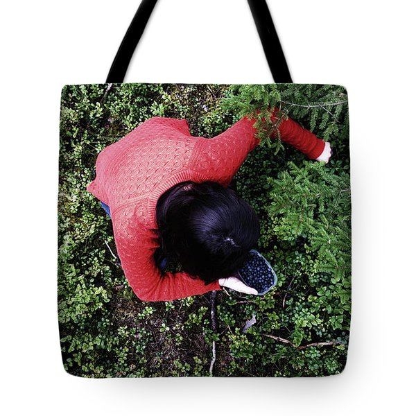 Picking Berries In The Woods Tote Bag