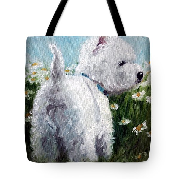 Picking Daisies Tote Bag by Mary Sparrow