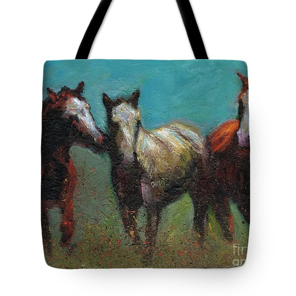 Picking On The New Guy Tote Bag by Frances Marino