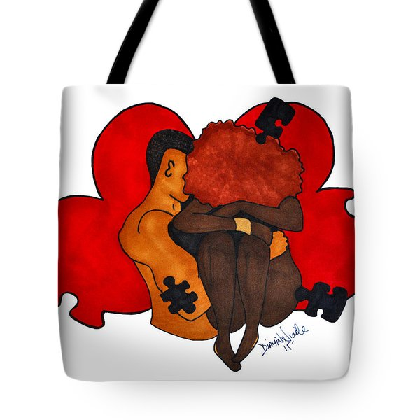 Picking Up The Pieces Tote Bag