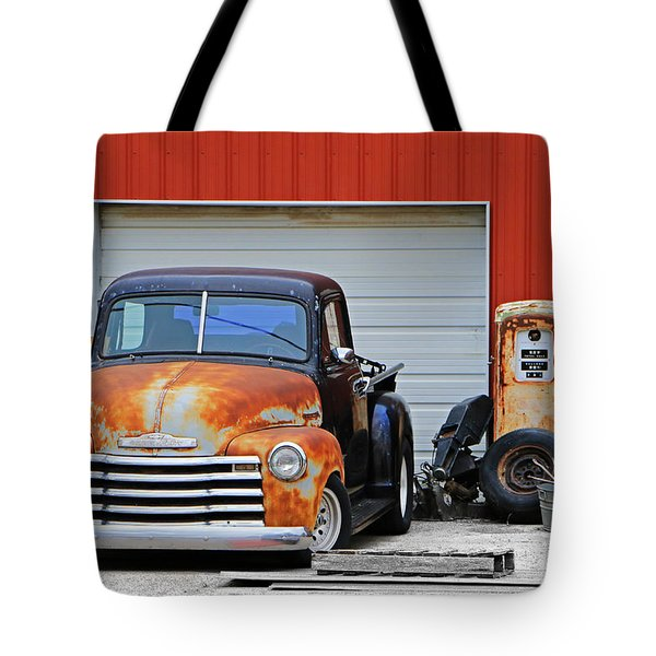 Tote Bag featuring the photograph Pickup Chevrolet by Christopher McKenzie