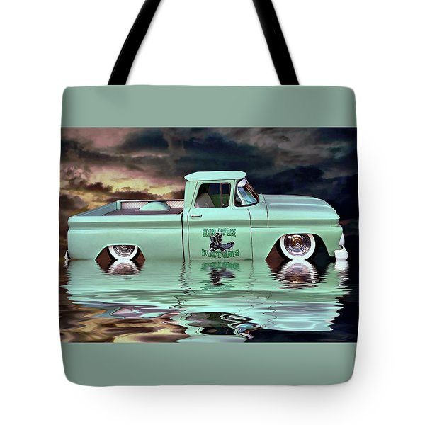 Pickup Reflections Tote Bag by Steven Agius