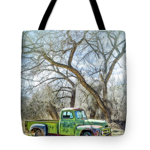 Pickup Under A Tree Tote Bag