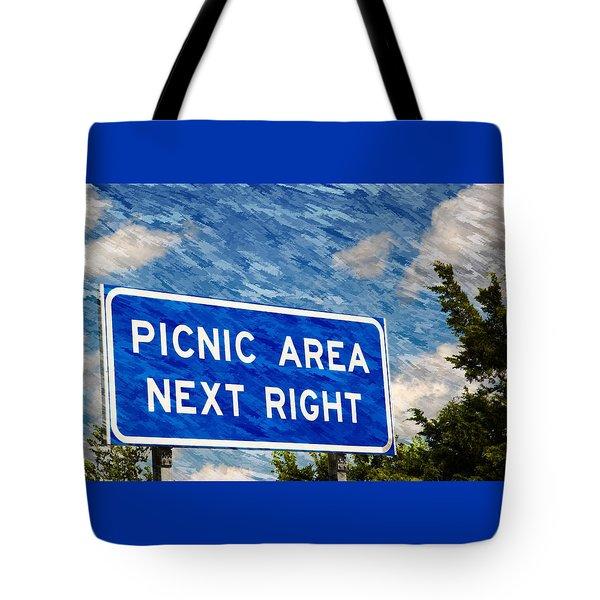 Picnic Area Tote Bag