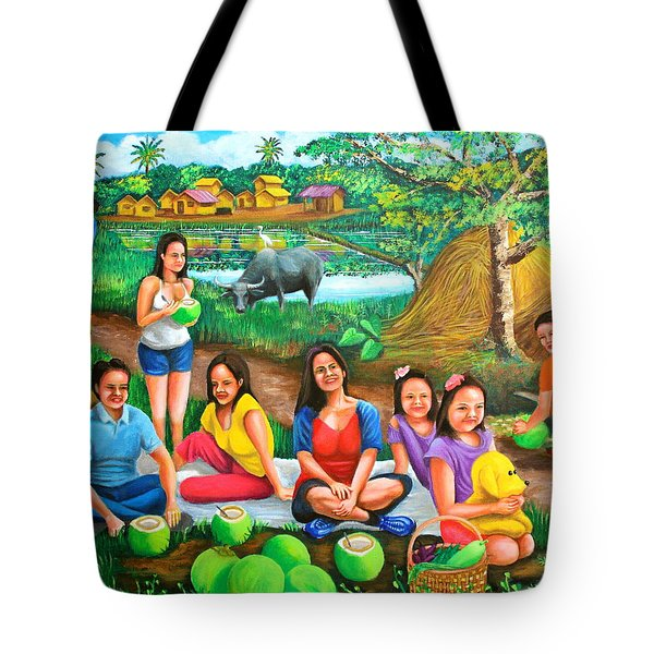 Picnic At The Farm Tote Bag