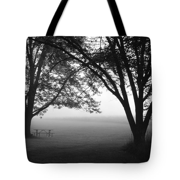 Picnic In The Fog Tote Bag by Lauri Novak