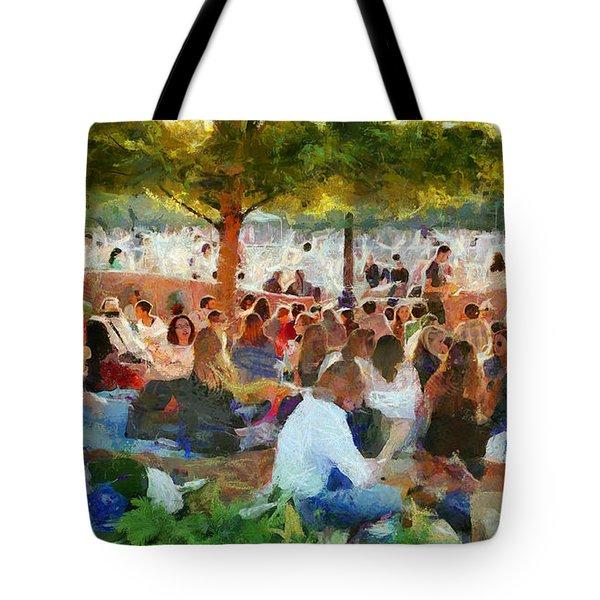 Picnic In The Park Tote Bag