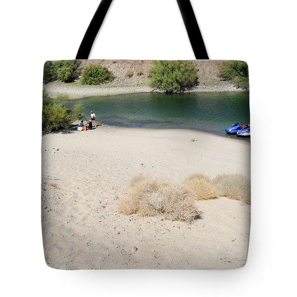 Picnic On Lake Mohave Tote Bag