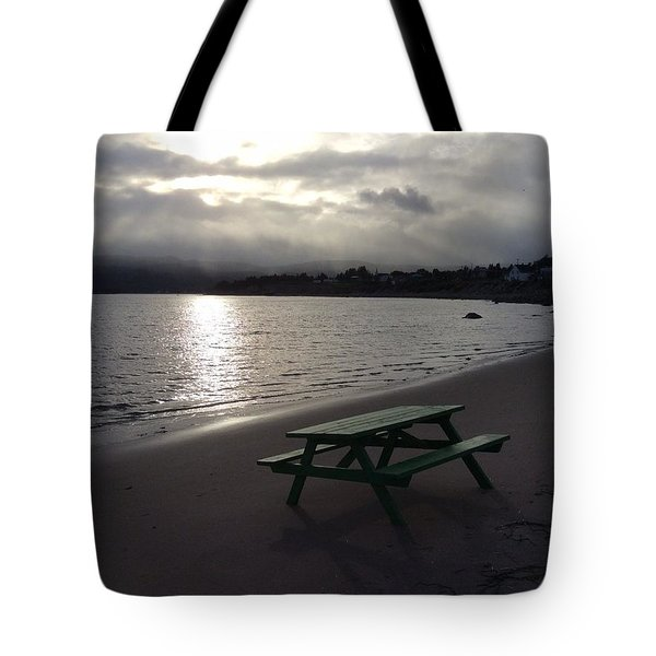 Tote Bag featuring the photograph Picnic Table by Pat Purdy
