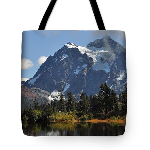 Picture Lake And Mount Shuksan Tote Bag