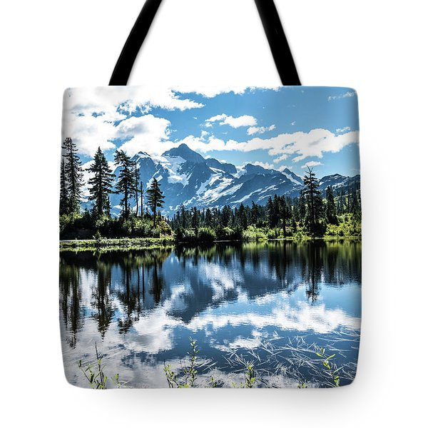 Picture Lake Tote Bag