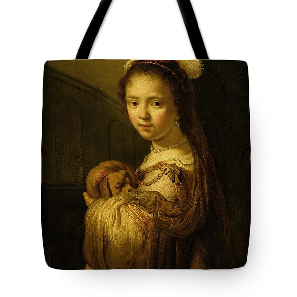 Picture Of A Young Girl Tote Bag by Govaert Flinck
