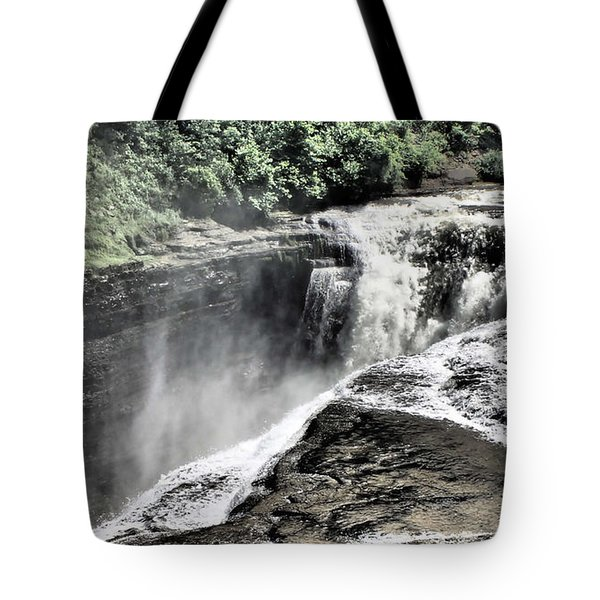 Picture Of Waterfalls At Letchworth Tote Bag