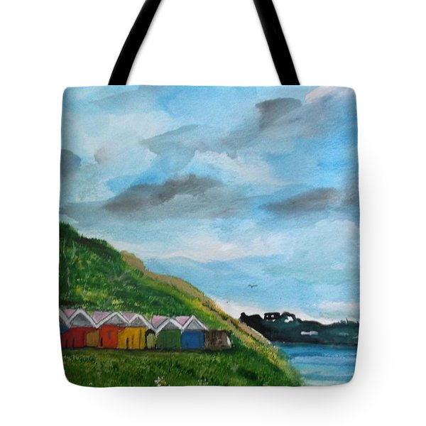 Picture Postcard View Of Scarborough Tote Bag