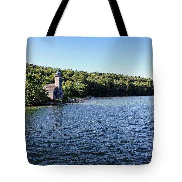Tote Bag featuring the photograph Pictured Rocks Lighthouse by Jackson Pearson