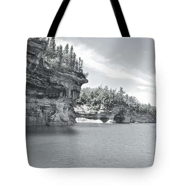 Pictured Rocks Shoreline National Park Tote Bag by Michael Peychich