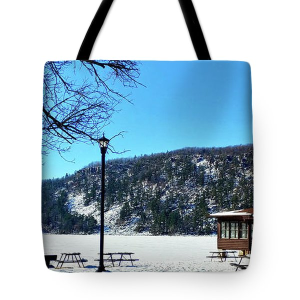 Picturesque Devil's Lake Tote Bag by Ricky L Jones
