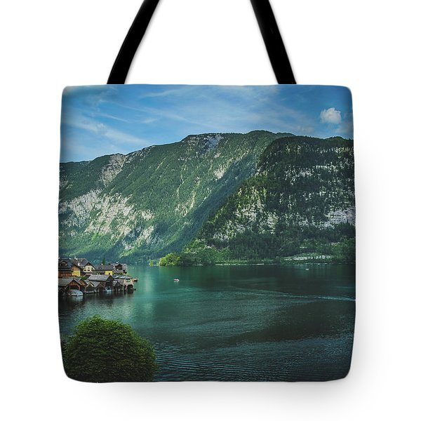 Picturesque Hallstatt Village Tote Bag