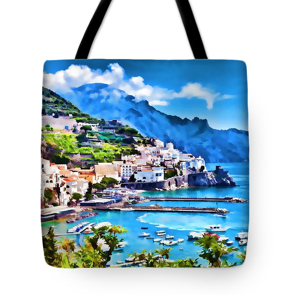 Picturesque Italy Series - Amalfi Tote Bag by Lanjee Chee