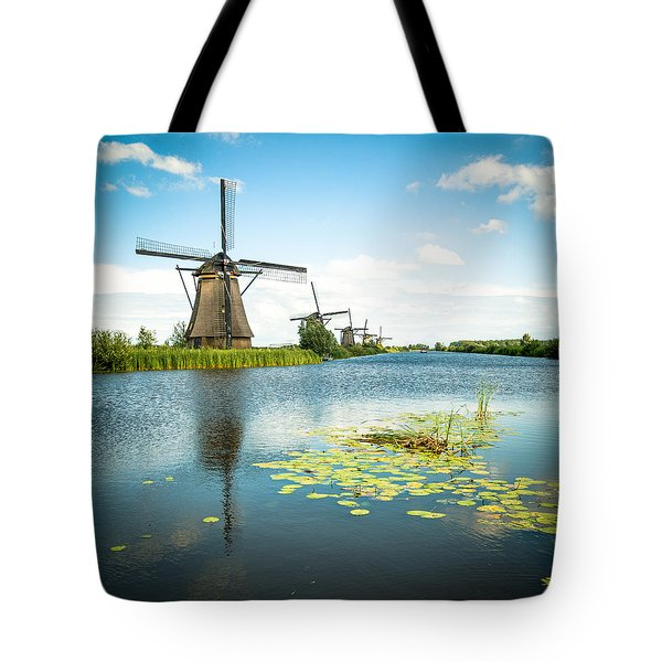 Tote Bag featuring the photograph Picturesque Kinderdijk by Hannes Cmarits