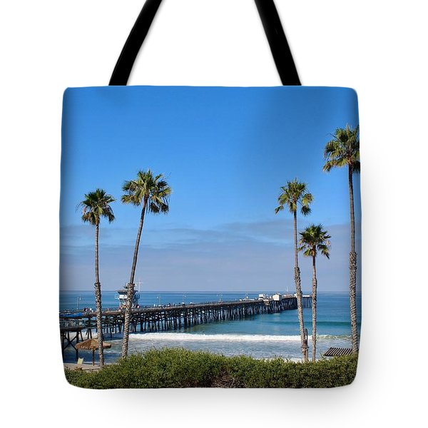 Pier And Palms Tote Bag