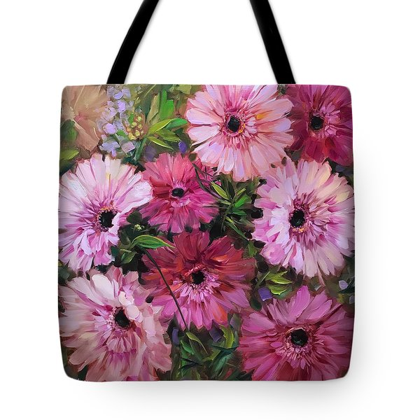 Pieces Of Heaven Pink Daisies Tote Bag