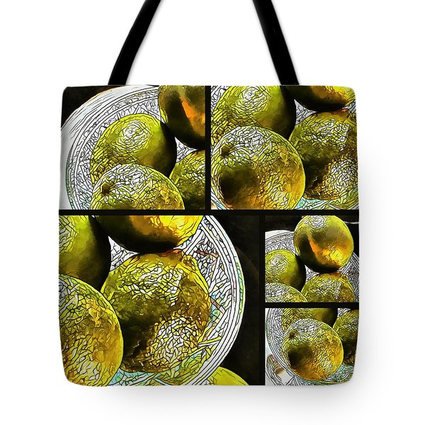 Pieces Of Lime Collage Tote Bag