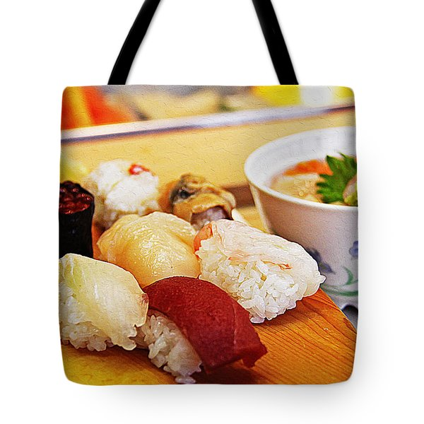 Pieces Of Sashimi Tote Bag