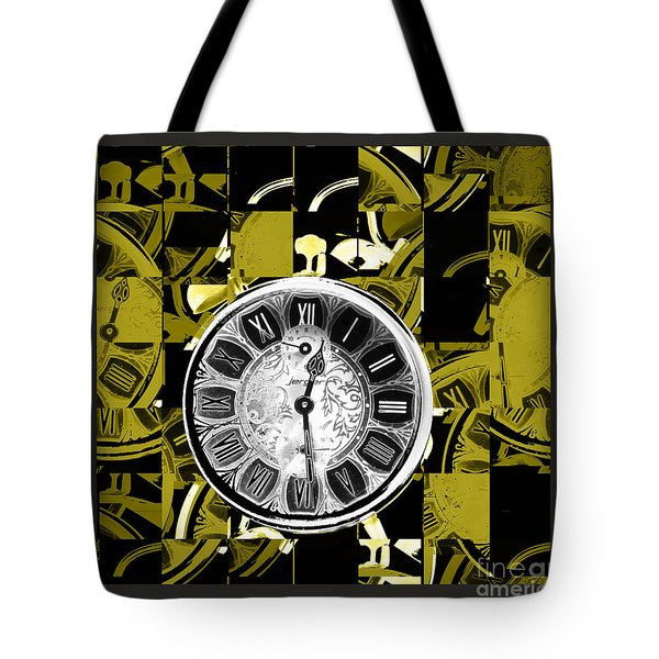 Pieces Of Time Tote Bag by Karen Lewis
