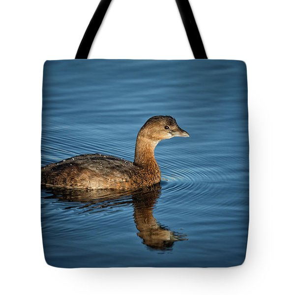 Tote Bag featuring the photograph Pied Billed Grebe by Randy Hall