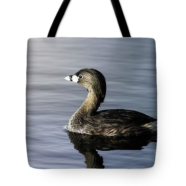 Tote Bag featuring the photograph Pied-billed Grebe by Robert Frederick