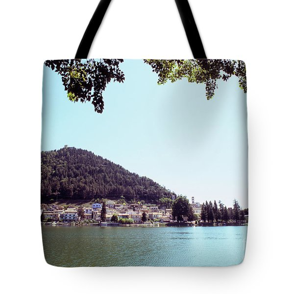 Piediluco And Piediluco Lake Tote Bag